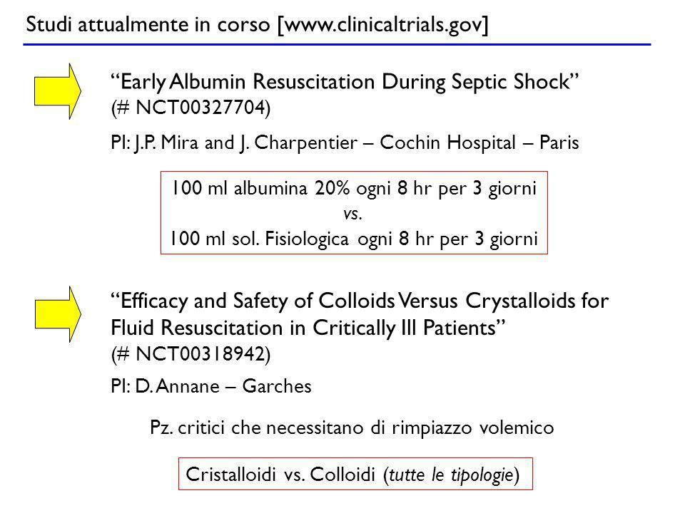 Studi attualmente in corso [www.clinicaltrials.gov]